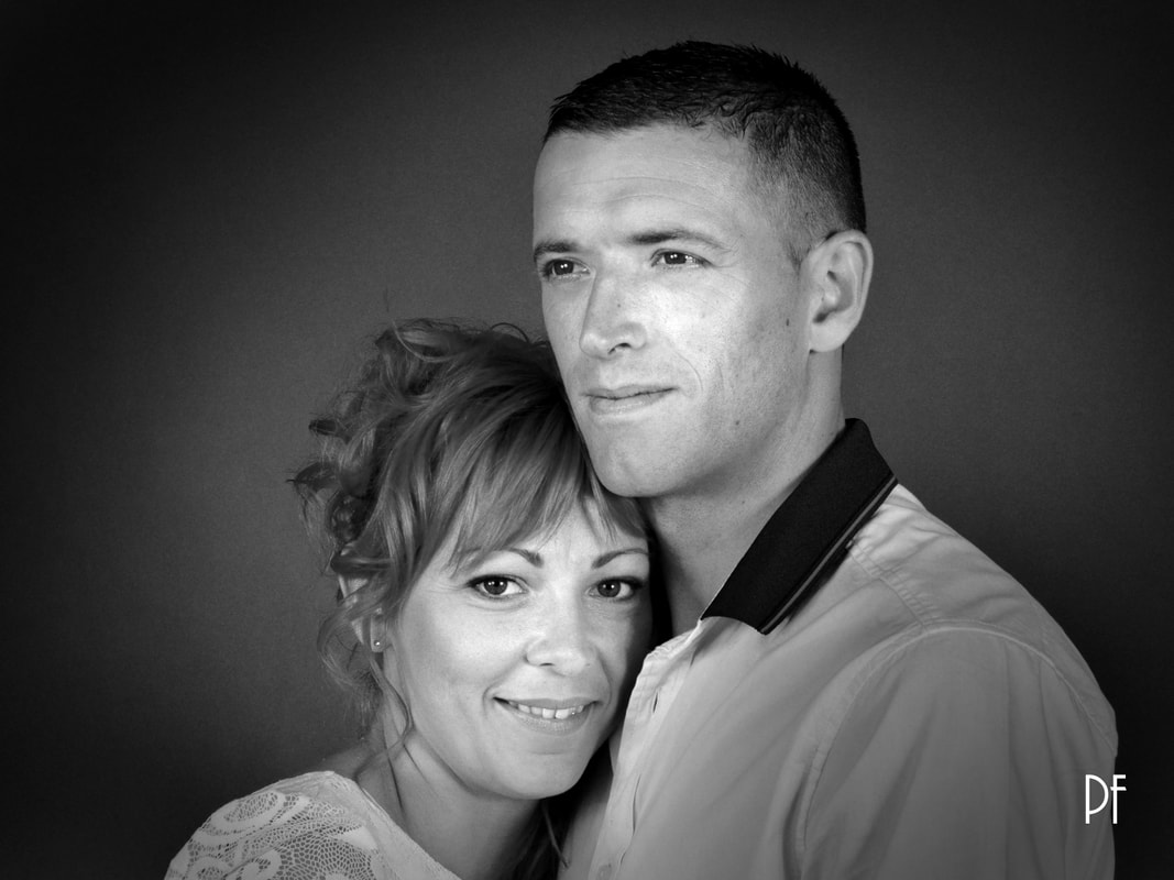 Photographie de portrait couple en studio